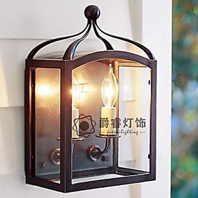 北欧美式复古铁艺玻璃艺术壁灯简约创意个性卧室书房床头壁灯8930