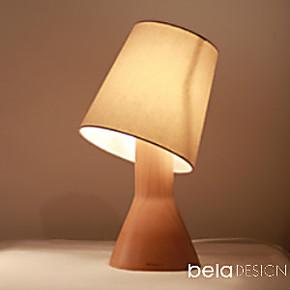 本来设计 原木质台灯 创意 卧室床头灯 可调光简约现代
