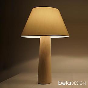 本来设计  原木台灯 创意台灯 卧室床头灯 可调光简约现代
