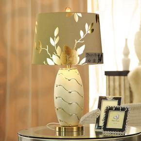 包邮 心主张 欧式陶瓷台灯 客厅卧室床头灯 金色台灯 婚庆灯2039