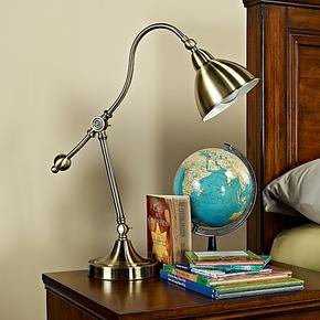 绿宜居 创意美式台灯书房时尚学习灯宜家床头灯简约卧室复古典灯