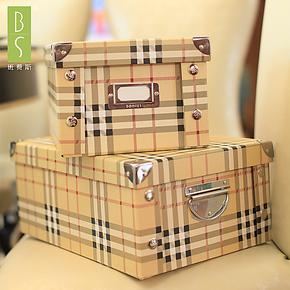 包邮班费斯纸质折叠收纳箱大号有盖收纳盒储物箱衣物整理箱2件套