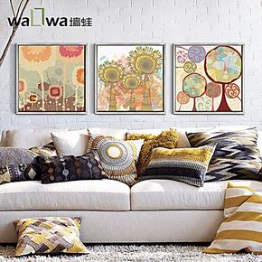 墙蛙 千姿百树 抽象挂画壁画墙画无框画客厅装饰画现代简约三联画