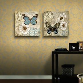 梵格高档美式装饰画客厅现代二联挂画沙发背景墙无框餐厅挂画壁画