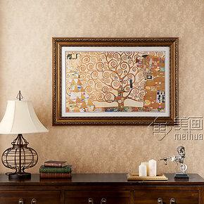 美画装饰画别墅画定制壁画美式挂画酒店画克里姆特2070
