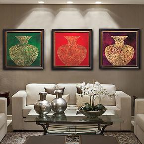 镶金大花瓶高雅简约客厅现代装饰画有框画卧室装饰画餐厅书房挂画