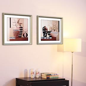 腾画 客厅现代装饰画 卧室餐厅墙画壁画挂画 抽象画静物画有框画