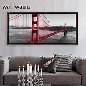 墙蛙 金门大桥 大型无框壁画挂画 沙发墙客厅装饰画办公室