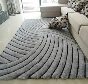 梦吉尔 新品 免洗加厚3D立体弹力丝地毯300D细丝客厅茶几卧室地毯