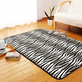 奇朵简约现代客厅 卧室 时尚奢华黑白豹纹地毯多尺寸和规格可定制