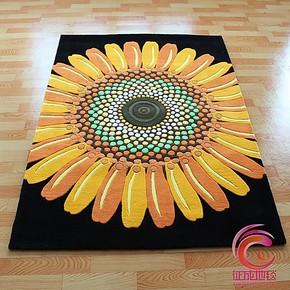征成地毯 客厅地毯 茶几卧室地毯 手工加厚可定制地毯 向日葵