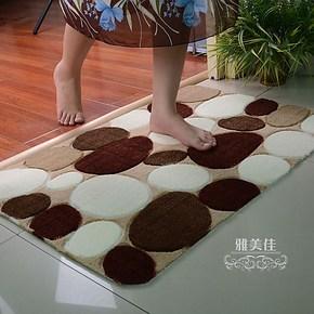 雅美佳 特价包邮防滑鹅卵石田园地垫 客厅 卧室茶几床边门厅地毯