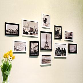 景宇 11框环保照片墙 时尚组合相框墙相片墙 创意家居 相框组合