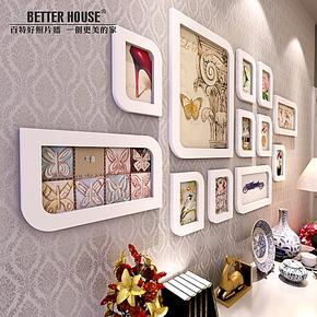 百特好相片墙照片墙组合 白色婚纱艺术照相框墙SH-1205
