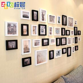 梓晨 欧式复古照片墙 超大墙面38框 相框墙 相片墙创意组合HD-038