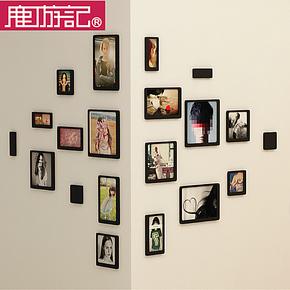 鹿游记木质创意组合20迷你照片墙相框墙组合创意相片墙3D立体墙贴