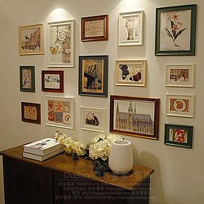 都多爱家 照片墙 实木相框墙 创意相片墙组合 欧式相框/多种风格
