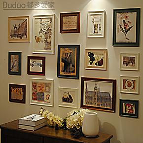 都多爱家/实木照片墙/客厅照片墙 欧式相框墙 组合 相片墙