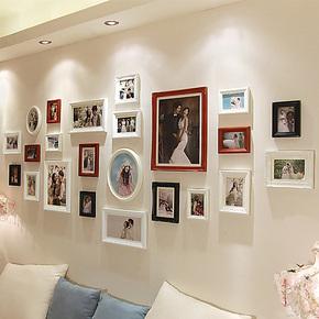 欧木格 照片墙 客厅大墙面相片墙 欧式家饰相框墙 相框组合23023