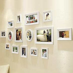 欧木格 实木照片墙 欧式相片墙 创意相框组合欧式相框墙18515