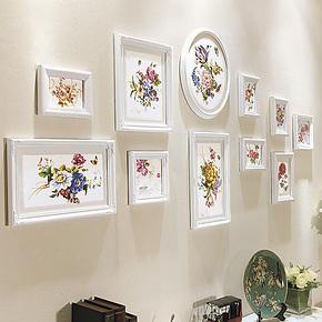 欧木格 照片墙 欧式木质相框墙 新品卧室创意相片墙相框组合16511