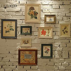 都多爱家 宽边复古相框墙 照片墙 相片墙组合 欧式实木系列