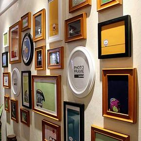 金零点旗舰店超大PU25高端实木相框创意照片墙/相框墙/相框组合