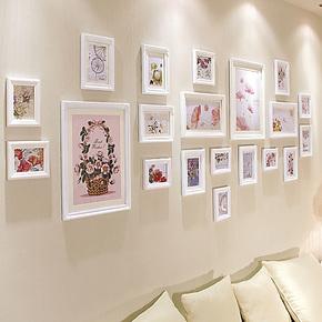 欧木格 照片墙 欧式实木客厅大墙面相片墙婚纱艺术照相框墙23120