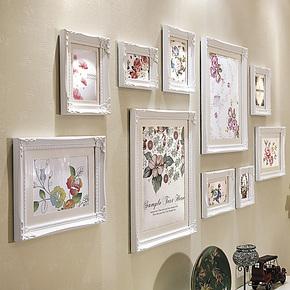 欧木格 实木照片墙 客厅欧式相片墙创意组合 新品相片墙16810