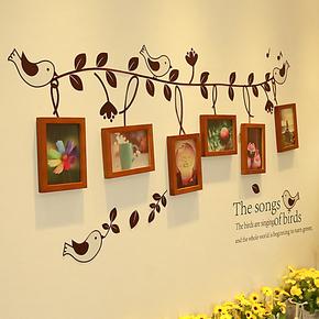 实木照片墙 相框墙 相框组合 相片墙 创意6框照片墙 欧式家居家饰