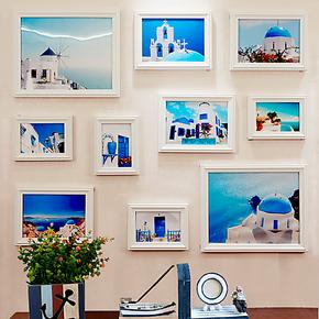 实木 照片墙 相框墙 欧式 创意 现代简约 相片墙 组合 包邮