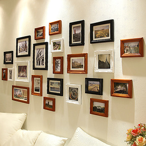 欧木格 实木欧式照片墙 新品相片墙 客厅相框墙相框创意组合20523