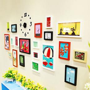 实木照片墙 百变造型生活相片墙 结婚家装家饰20框创意组合相框墙