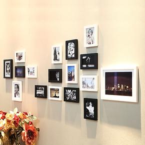 红丽 实木照片墙 卧室客厅相框墙 相片墙创意组合结婚礼物HL-013
