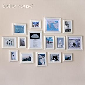 百特好 照片墙相框墙 奢爱M款SH-1501实木相片墙 组合创意生活照
