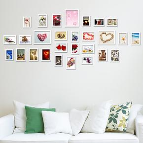 维佳品牌28框超大异形欧式实木照片墙相框墙相片墙装饰画创意组合