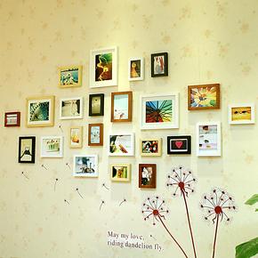 23框 宜家时尚实木照片墙相框墙相片墙组合创意送3种模板送无痕胶