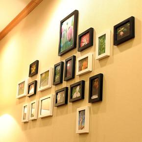 恋居 照片墙 客厅 实木相框 创意组合 相片墙 18框A 送照片包邮