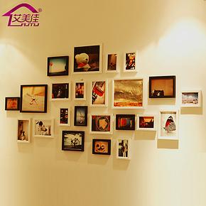 艾美佳 超值热卖实木 相框组合创意 照片墙 相片墙 结婚礼物 23A
