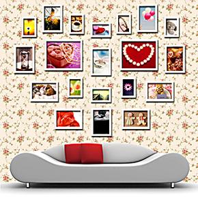 浮图 心形相框墙照片墙相片墙 创意家居组合相框 送柯达照片 包邮