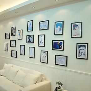 梓晨 进口实木照片墙 超大墙面自由DIY照片墙组合  HD-1318