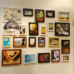浮图品牌 平框欧式混搭 23框照片墙相框墙相片墙相框组合画框