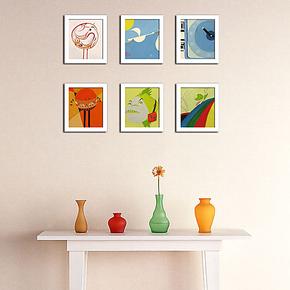新款6框非主流迷你画组合相片墙相框墙照片墙儿童房转角走廊楼道