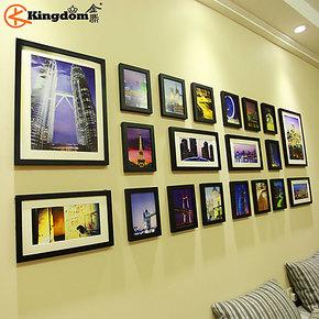金鼎 20大框大尺寸 加厚实木照片墙 企业相框墙 创意组合相片墙