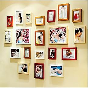 良匠木质创意组合20迷你照片墙相框墙组合创意相片墙3D立体墙贴