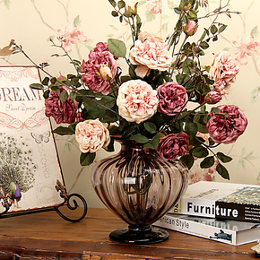 【装修节】欧式牡丹玫瑰高档仿真花绢花套装整体花艺婚庆花艺