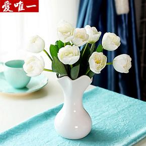 郁金香仿真花套装 韩式绢花客厅装饰假花桌面落地摆放花艺套装