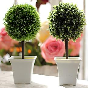 光影艺轩 清新风格情侣盆栽仿真小树绿植 家居装饰花 假花