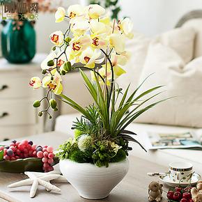 阑珊树-简欧现代玉树芝兰原创成品花艺 家居装饰仿真花 整体花艺