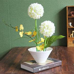 仿真绣球花套装花艺假花装饰花绢花客餐厅摆设花卉泽多新品
